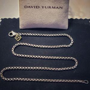 "David Yurman Small Box Chain Silver 16"""
